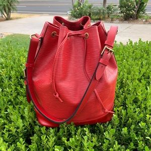 Louis Vuitton Red Epi Leather Noe GM